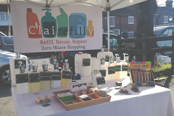 ClaireFilly eco stall in high Wycombe