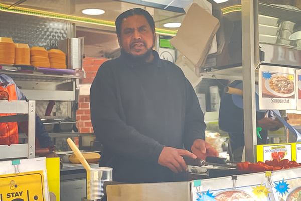 K&K kebabs market stall in High Wycombe